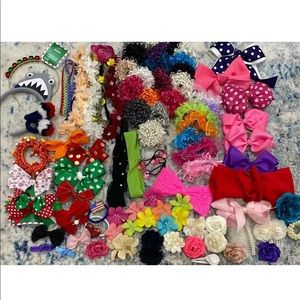 Other - Lot hair accessories bows headbands flower clips